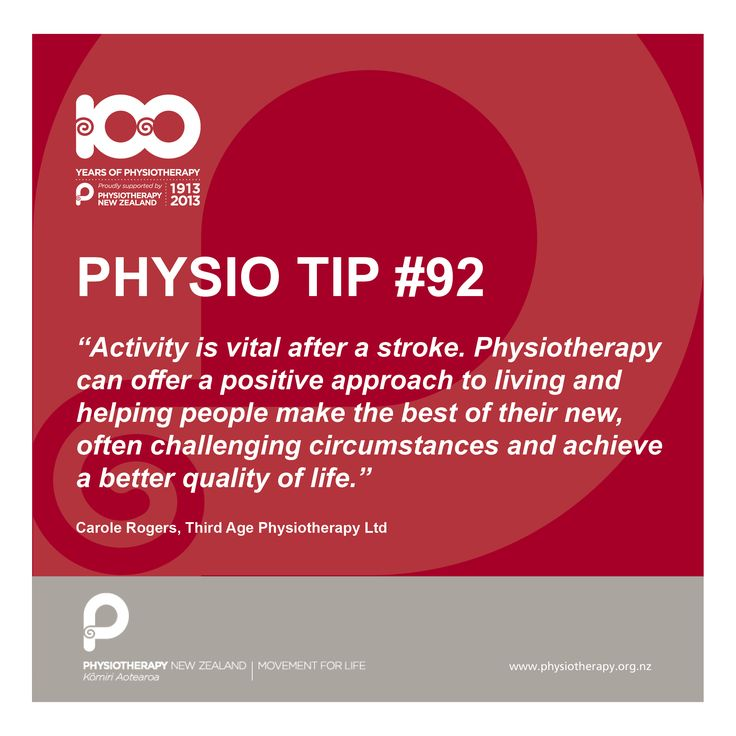 #physio tips. Activity is vital after a stroke