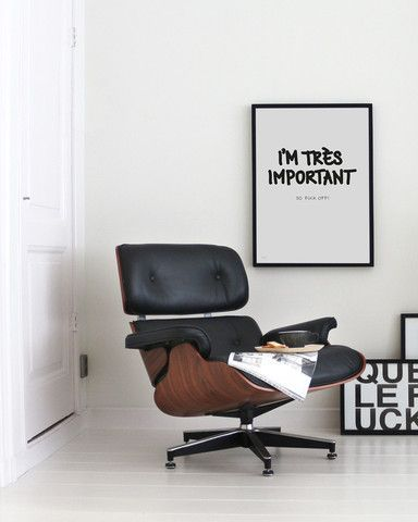 Via My Deer | Eames Lounge Chair | Black and White