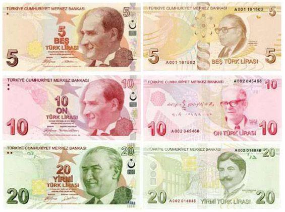 Billetes de lira turca, moneda de Turquia