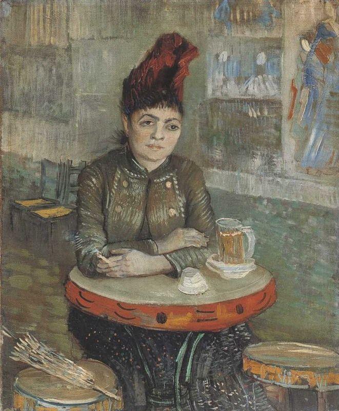 Музей Ван Гога в Амстердаме. Агостина Сегатори в кафе «Тамбурин». Париж, зима 1887-1888