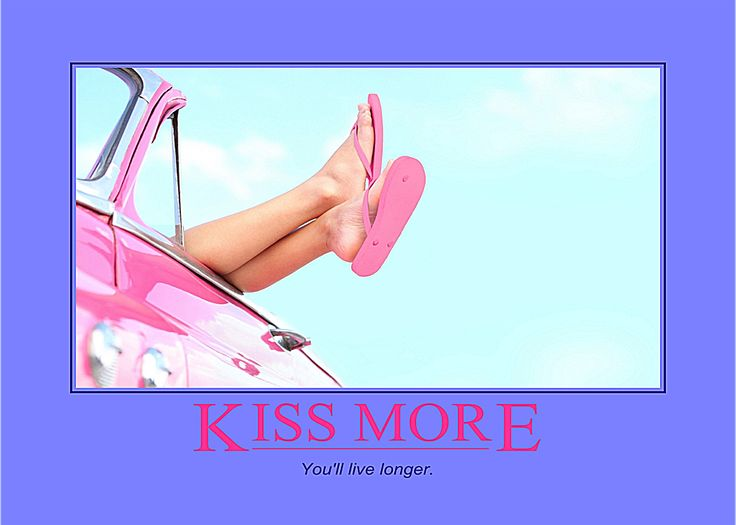 """""""Kiss more, you'll live longer."""" Volumes have been published on the health benefits of kissing! It's worth a browse sometime. The secret ingredients are seratonin, dopamine and oxytocin - the famous """"feel good"""" trio. You'll probably need to look those up too. Time well spent because we're interested here in adding life to your years and years to your life!"""