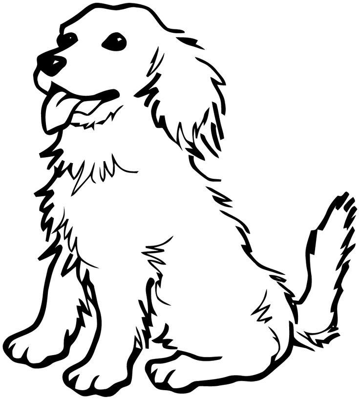 Les 25 meilleures id es de la cat gorie chien coloriage - Dessin tete de chien ...