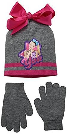 3922872b0d6 JoJo Siwa Nickelodeon Girls  Beanie Knit Hat   Glove Set JoJo Siwa  Nickelodeon Girls  Beanie Knit Hat   Glove SetChildren s Fashion   accesories ...