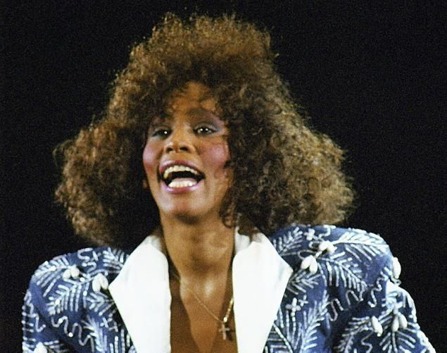 Whitney Houston performs at Wembley Arena on May 18, 1988 in London.