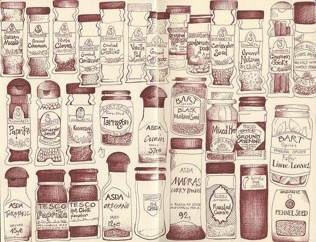 spice up your life by andrea joseph's illustrations, via Flickr