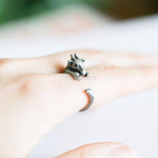 giraffe ring, ring size 5 ~ 9 us