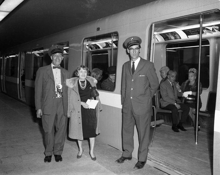 L'inauguration du métro de Montréal le 14 octobre 1966 - Montreal metro inauguration on October 14, 1966