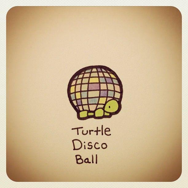 Turtle Disco Ball #turtleadayjuly - @turtlewayne- #webstagram