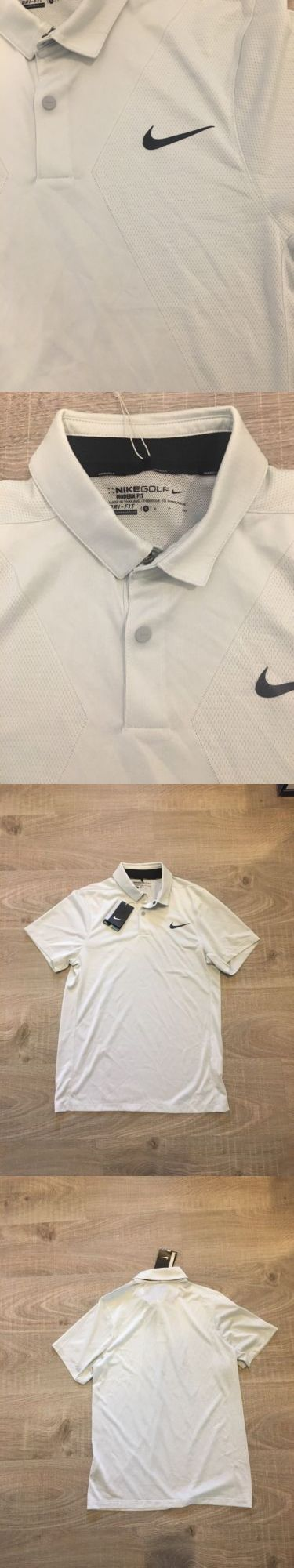Athletic Apparel 137084: Nike Golf Men S Modern Fit White Collar Polo Shirt, Size Small Msrp $85 -> BUY IT NOW ONLY: $45 on eBay!