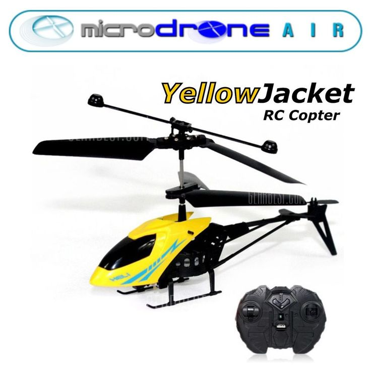 """MicroDRONE Red Wasp or Yellow Jacket Copter 6""""  Remote Control #MicroDRONEAIR"""