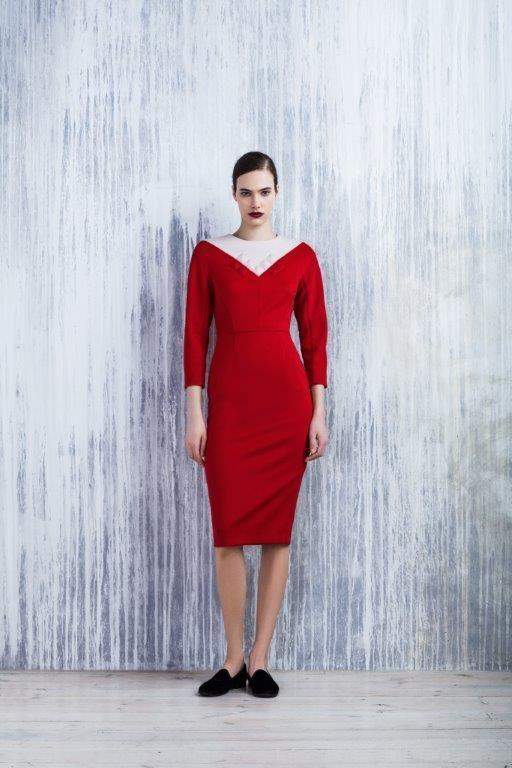 LUBLU Kira Plastinina FW14/15 neoprene dress with studded neck detail.