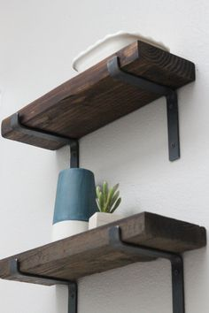 metal shelf bracket set of 2 medium raw steel von