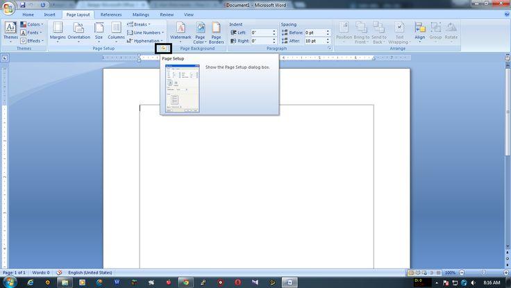 Belajar Microsoft Office: Belajar Mengatur  Lembar Kerja Microsoft Word