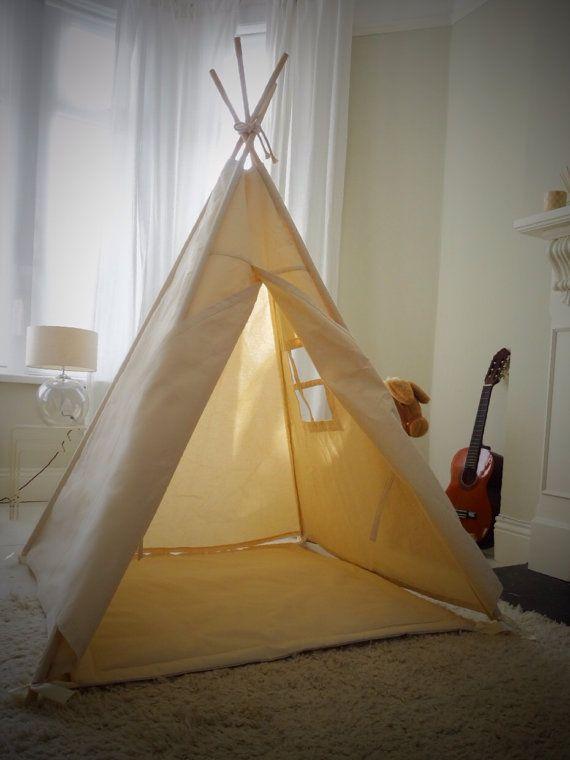 Large Children's Teepee Play tent with window von LittleMeTeepee