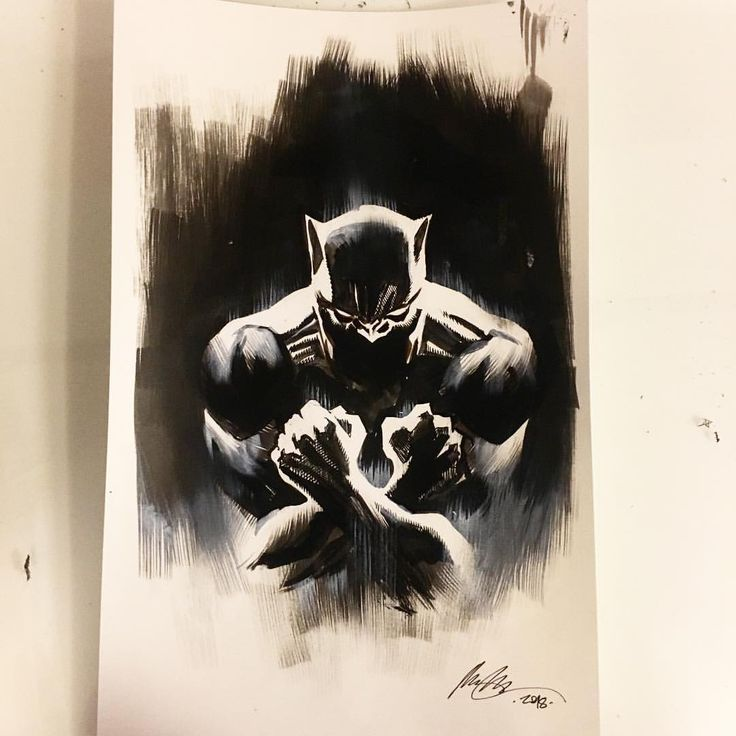 "Black Panther Drawing ""Wakanda Forever"""