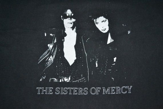 Vintage 90s THE SISTERS Of MERCY Tour Concert Promo album rare T-shirt t shirt