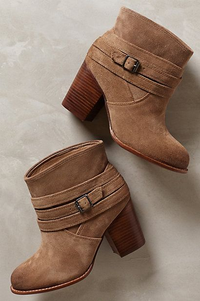 These booties SCREAM Fall... I cannot wait. Laventa Booties - anthropologie.com