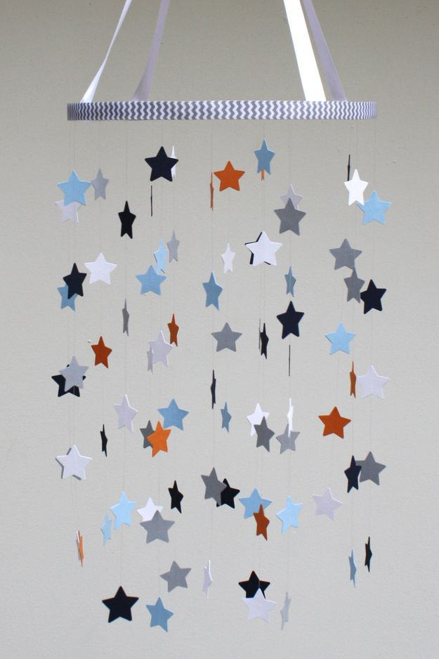 I am going to make Addie's mobile :) Purple, white, and silver stars! Hoping for the best!
