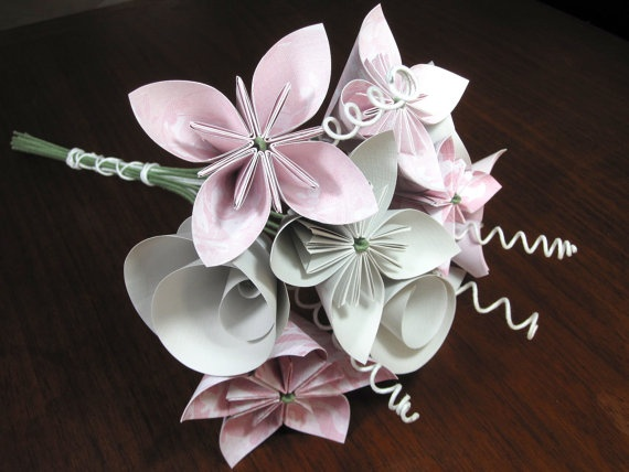 Origami Wedding Bouquet in Pink.  I'd be ok with something like that