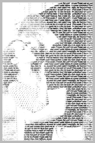 Picture made from song lyrics