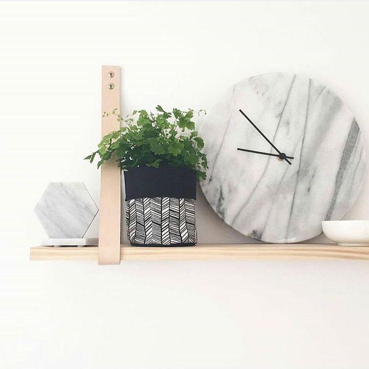 """""""Friday shelfie loving  #misspots #misspotspouches #plantpouch #plantpouches #homedeco #shelfie #fabricpot #plants #marble"""""""