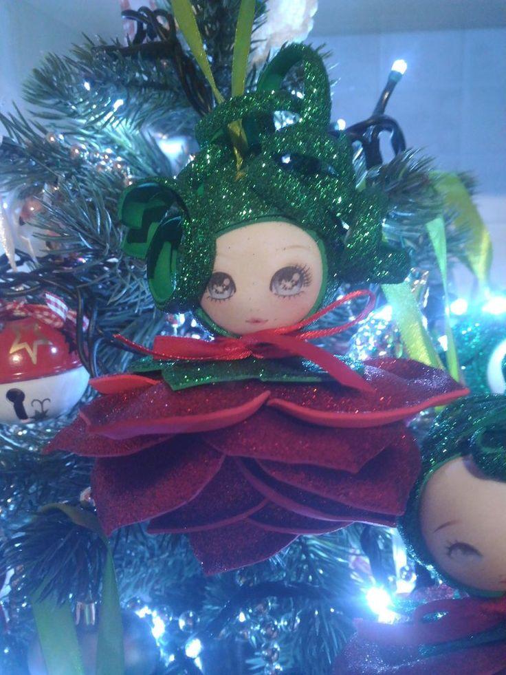 Decorazioni albero fiori rossi in gomma crepla o eva Natale, by Shop Creativo, 20,00 € su misshobby.com