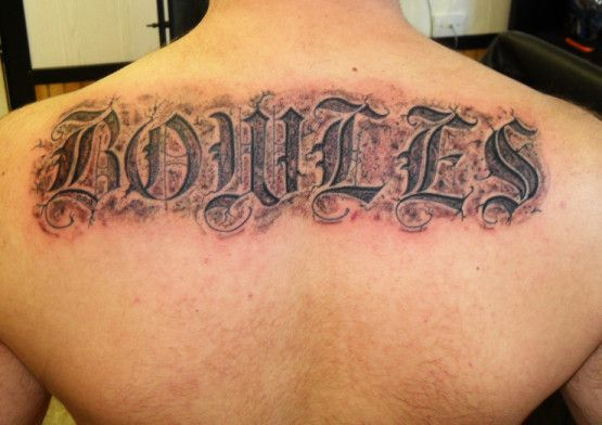 Label Tattoo Fonts Old English Tattoos Designs Lettering Picture
