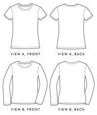 Liesel + Co., women's metro t-shirt sewing pattern