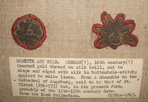 V 10th cent embroidery