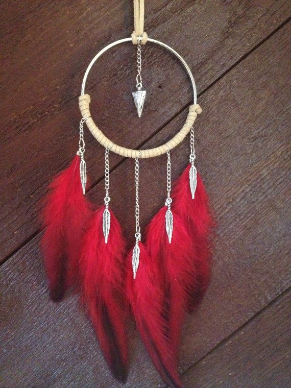 Dreamcatcher dream catcher feather necklace by GypsyTribeJewels