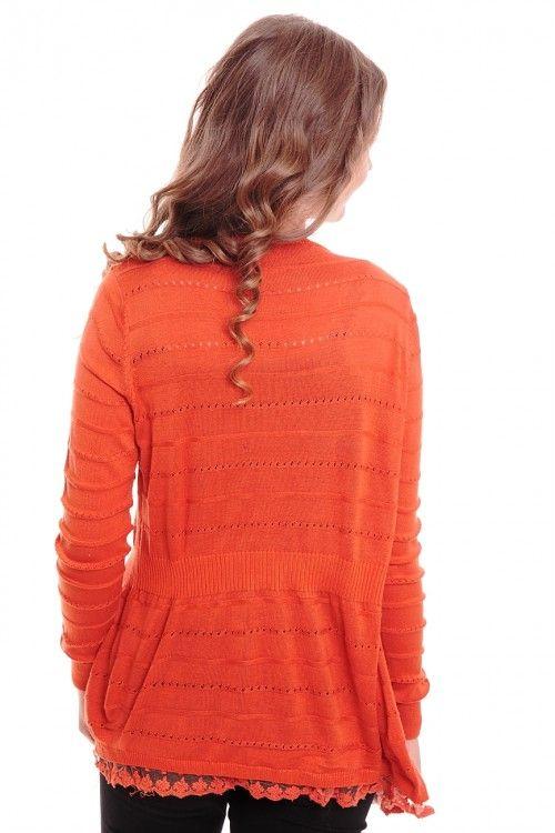Кардиган А6087 Размеры: 42-44 Цвет: терракотовый Цена: 300 руб.  http://optom24.ru/kardigan-a6087/  #одежда #женщинам #кардиганы #оптом24