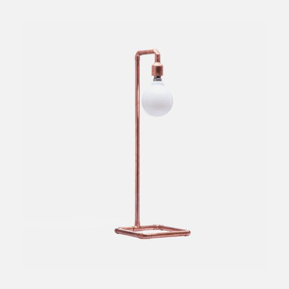 Copper Lamp – Copper. This can be easily DYIed, just buying copper pipes and connections