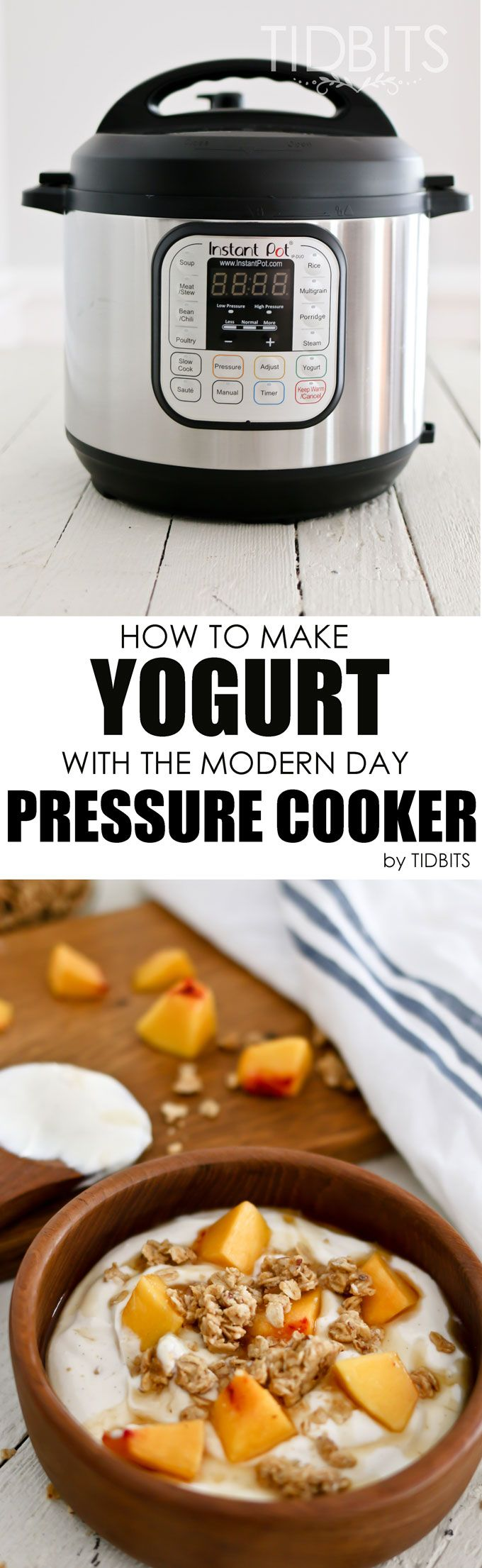 The easiest and yummiest way to make yogurt - with the modern day pressure cooker.