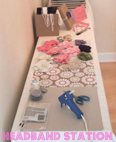 Have guests make headbands for the baby at baby girl shower--cute activity instead of stupid games  #baby #shower #games