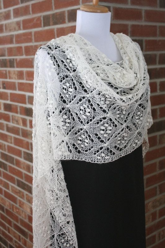 Quatrefoil Lace Scarf, PDF Pattern, Knitting, Lace - $5.95 download