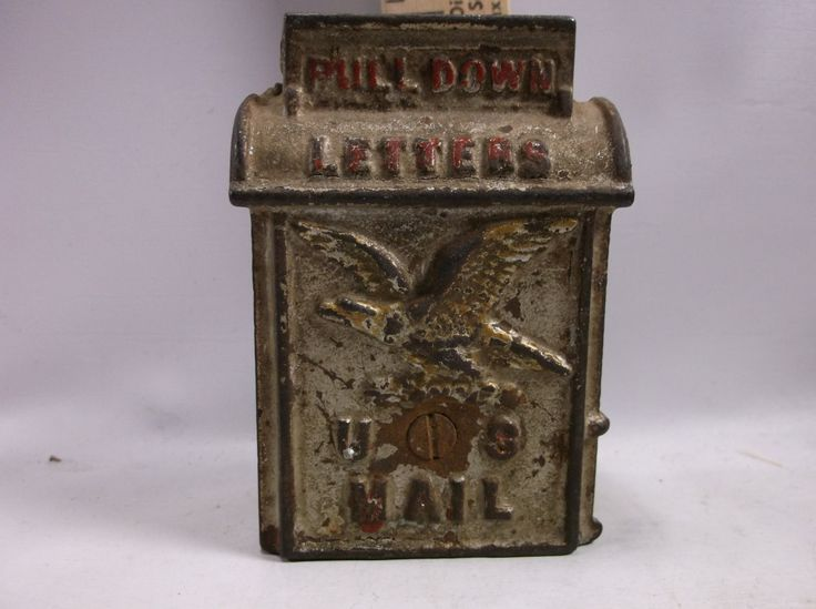 Cast Iron Bank 1910-20 s U.S. Mail , Still Bank, Toy Bank, A.C.Williams Co. epsteam