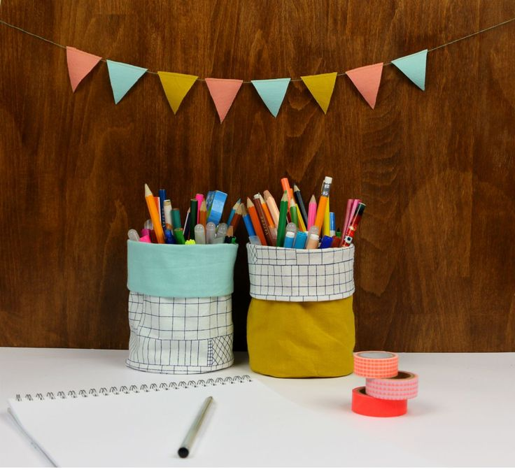 It's a flower pot. No, it's a pencil case. Wait, it's a toy bin! Actually, this sturdy fabric bin tutorial could be all three! Click in for the complete instructions from Straight Grain.