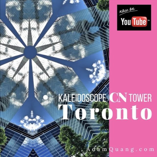 🎥 Here is my latest kaleidoscope video - The video is created with a picture I took on a beautiful sunny afternoon with the refection of the CN tower at Toronto International Film Festival #TIFF festival.