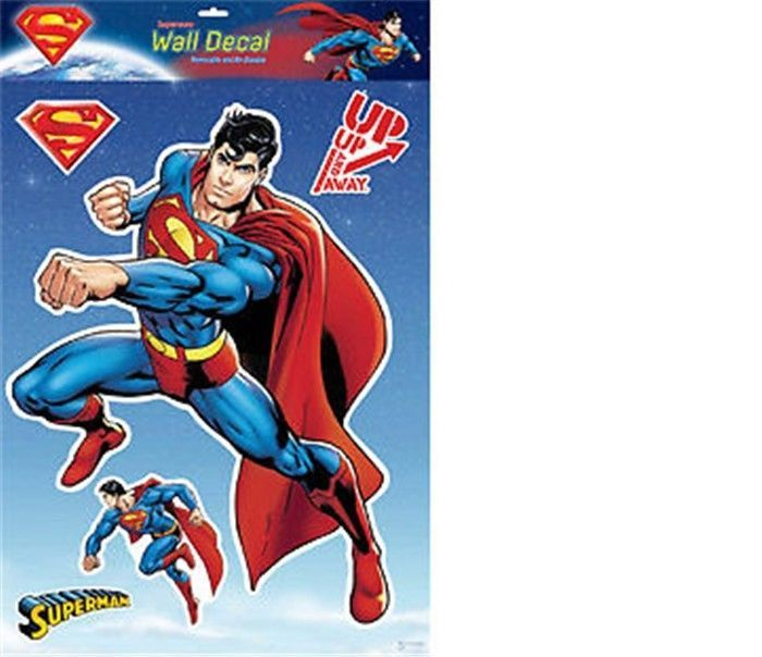 Superman -- 30x40cm Wall Decal Sticker Removable