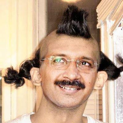 Arvind Kejriwal Funny Hair Style