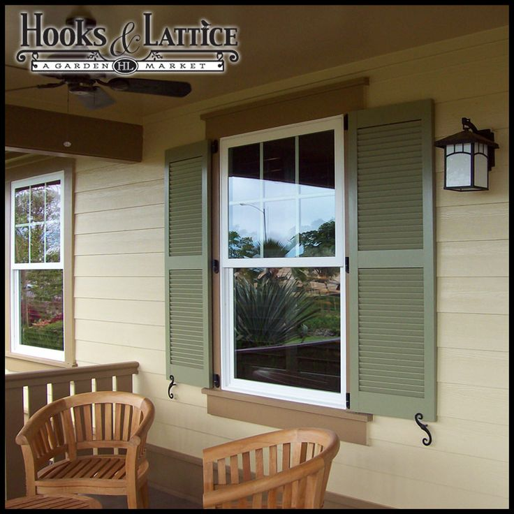 Outdoor shutters will look their best if they are mounted with either decorative or functional hardware items! Description from hooksandlattice.com. I searched for this on bing.com/images