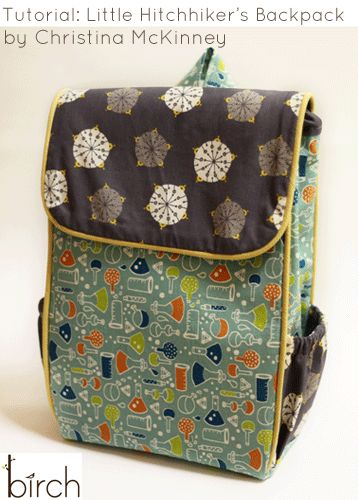 FabricWorm: Tutorial: Little Hitchhiker's Backpack by Christina McKinney!