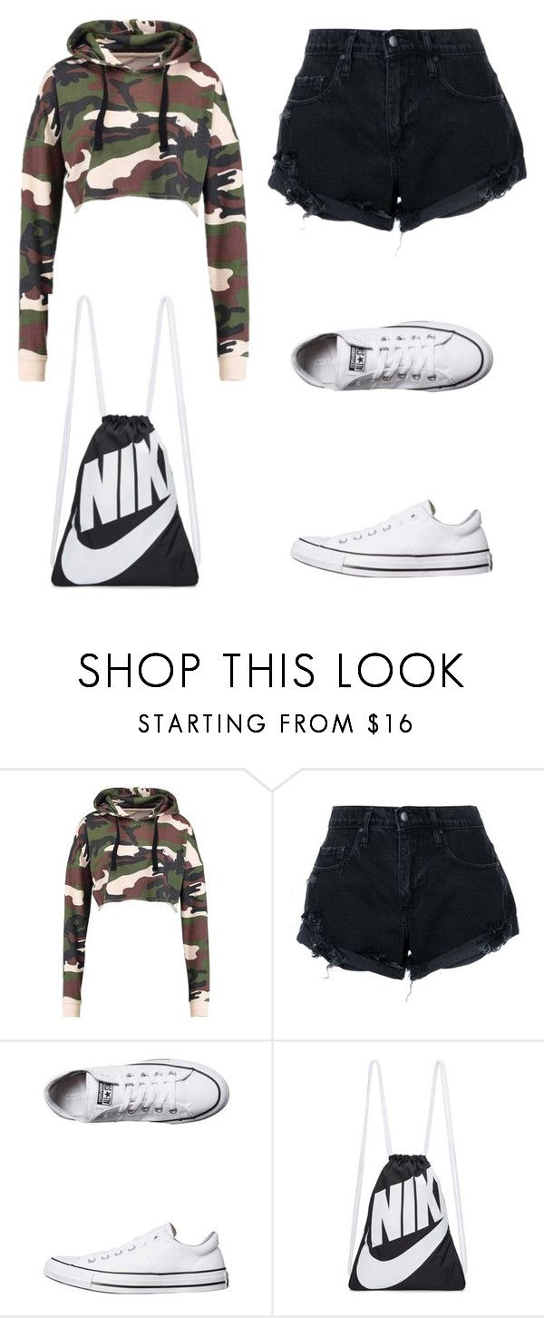 """""""Untitled #5"""" by nesiv ❤ liked on Polyvore featuring Nobody Denim, Converse and NIKE"""