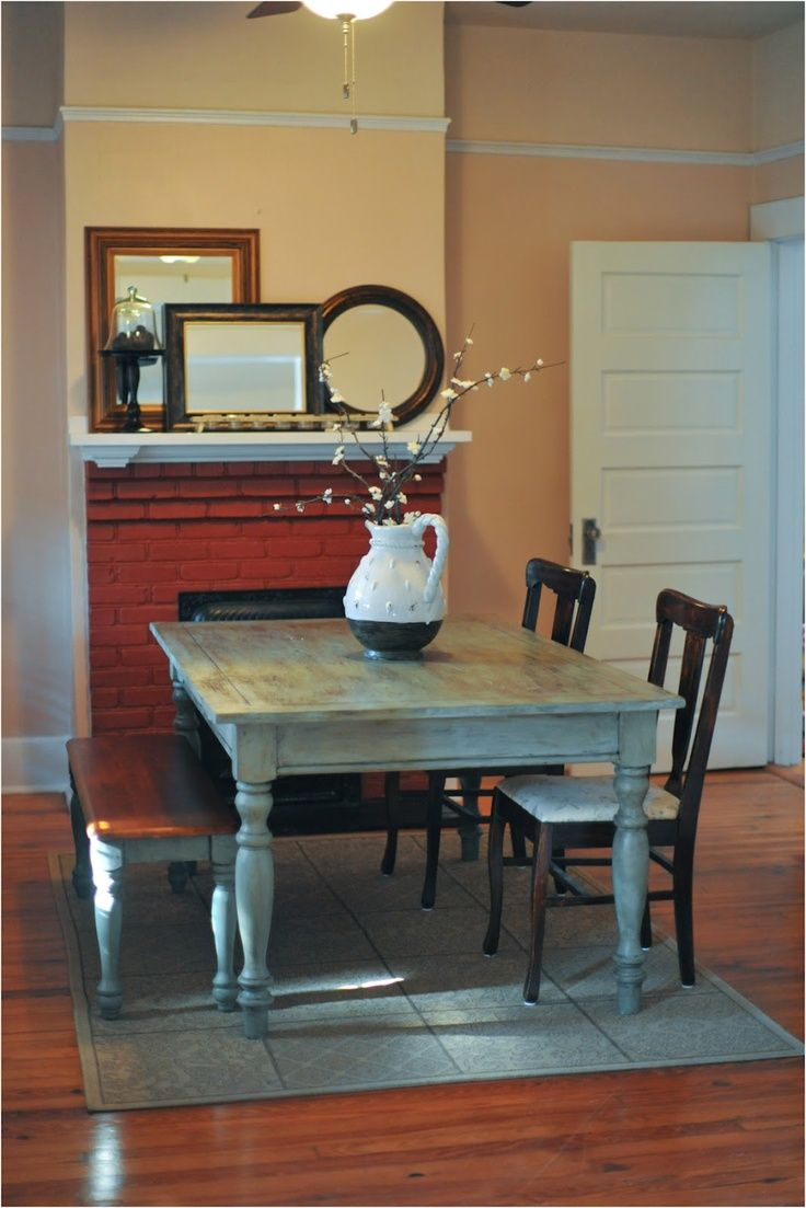 Dabney corner shaker double vanity distressed vinish - Painting A Dining Room Table In Under An Hour I May Need To Try This