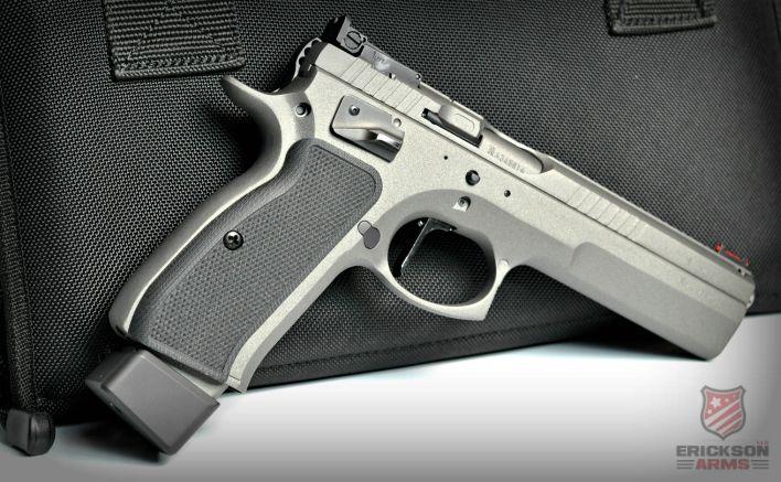 CZ 75 Tactical Sport .40 Cal Cerakoted in Tungsten and Graphite Black #CZ75 #Cerakote #Guns