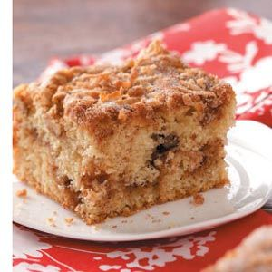 Aunt Lillian's Crumb Cake Recipe -My Aunt Lillian made her fabulous crumb cake every weekend when we came to visit. She created this recipe back in the '40s. Knowing my father loved it, she shared the recipe with my mother, who passed it on to me. I serve it as a coffee cake for Sunday brunch or for dessert. —Rose Gearheard, Phoenix, Oregon