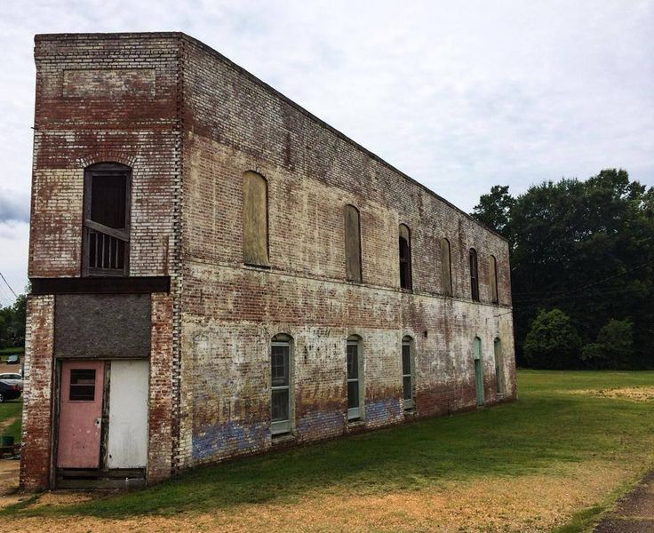 """""""An old uniquely shaped building in Eupora."""" — in Mississippi."""