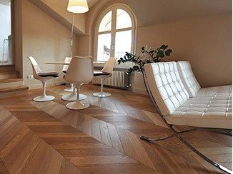 Prefinished oak parquet SPINA UNGHERESE | Parquet - Alma by Giorio