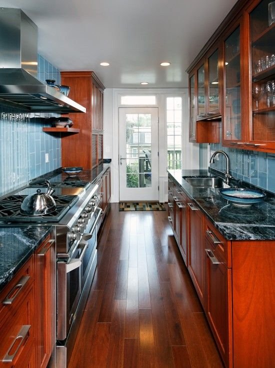Small Galley Style Kitchen