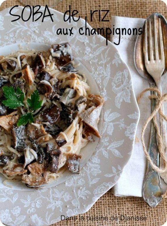 Soba aux champignons (végétalien et sans gluten)